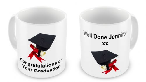 Personalised Congratulations On Your Graduation Novelty Gift Mug